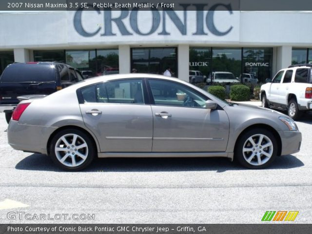 pebble beach metallic 2007 nissan maxima 3 5 se frost interior vehicle. Black Bedroom Furniture Sets. Home Design Ideas