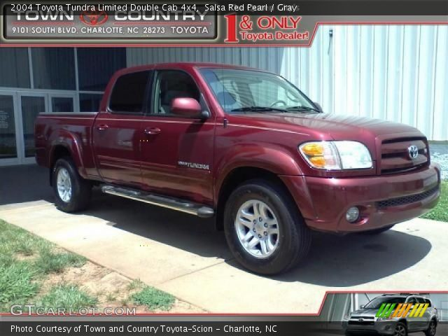 salsa red pearl 2004 toyota tundra limited double cab. Black Bedroom Furniture Sets. Home Design Ideas