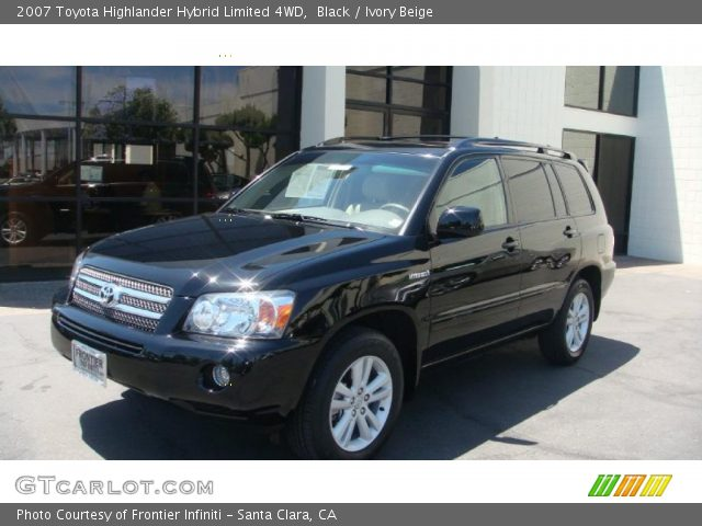 black 2007 toyota highlander hybrid limited 4wd ivory beige interior. Black Bedroom Furniture Sets. Home Design Ideas