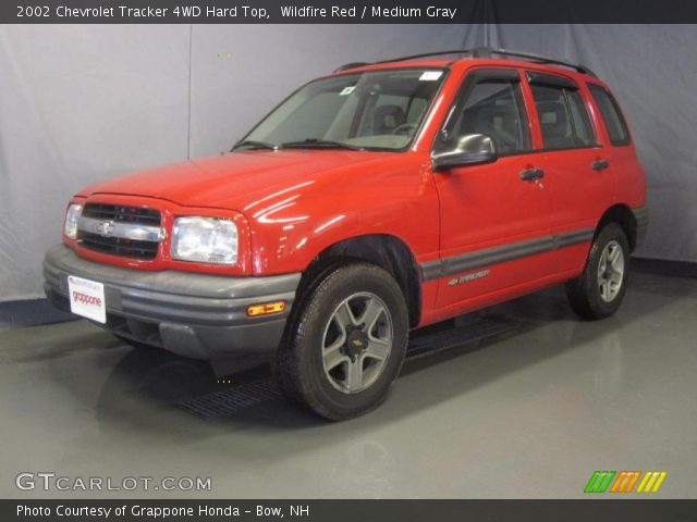 wildfire red 2002 chevrolet tracker 4wd hard top. Black Bedroom Furniture Sets. Home Design Ideas