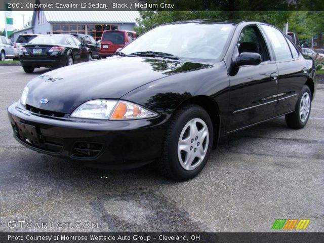 Black 2001 Chevrolet Cavalier Ls Sedan Medium Gray Interior