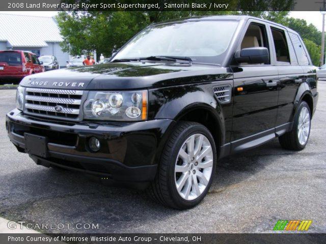 Santorini Black 2008 Land Rover Range Rover Sport Supercharged Ivory Interior