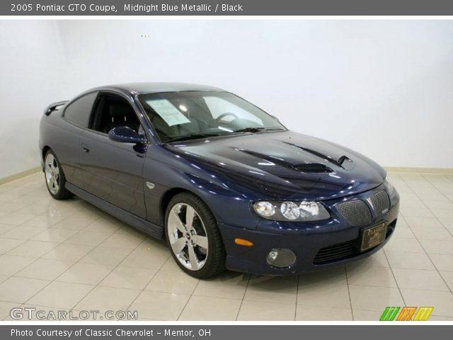 2005 Pontiac GTO Coupe in Midnight Blue Metallic
