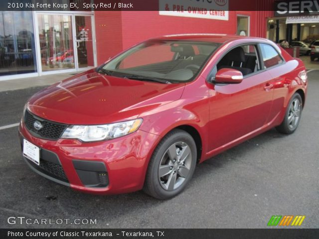 Spicy red 2010 kia forte koup ex black interior vehicle archive 31743451 for 2010 kia forte koup interior
