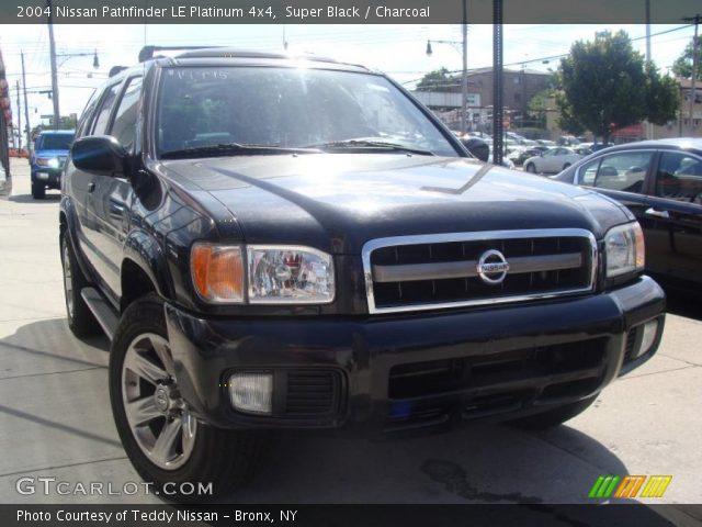 Super Black 2004 Nissan Pathfinder Le Platinum 4x4 Charcoal Interior