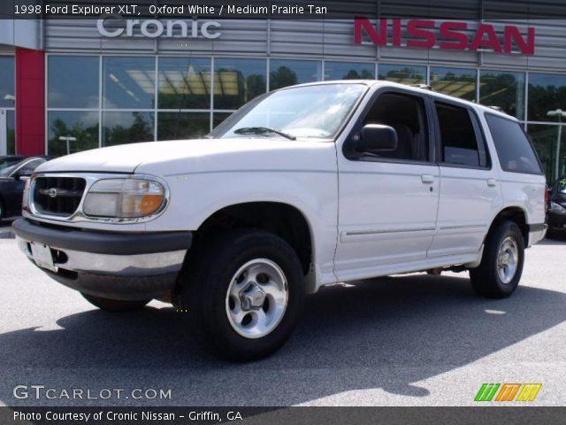 oxford white 1998 ford explorer xlt medium prairie tan interior vehicle. Black Bedroom Furniture Sets. Home Design Ideas