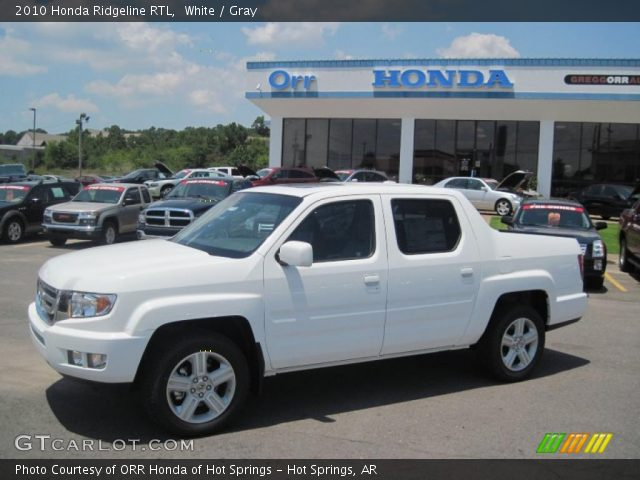 white 2010 honda ridgeline rtl gray interior vehicle archive 31791508. Black Bedroom Furniture Sets. Home Design Ideas