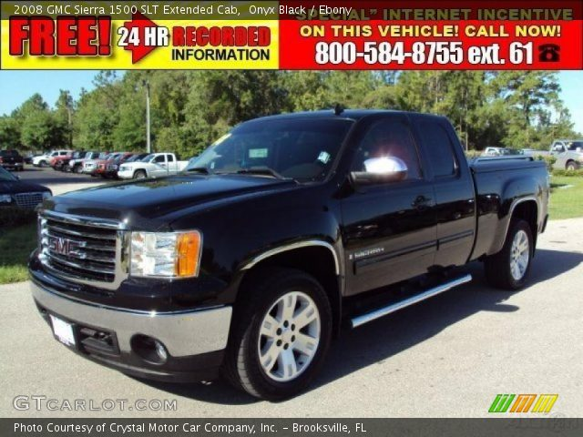 onyx black 2008 gmc sierra 1500 slt extended cab ebony. Black Bedroom Furniture Sets. Home Design Ideas