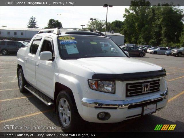 white 2006 honda ridgeline rtl gray interior