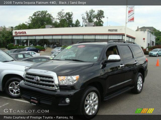 black 2008 toyota sequoia platinum 4wd sand beige. Black Bedroom Furniture Sets. Home Design Ideas