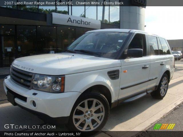 Chawton White 2007 Land Rover Range Rover Sport Hse Ebony Black Interior