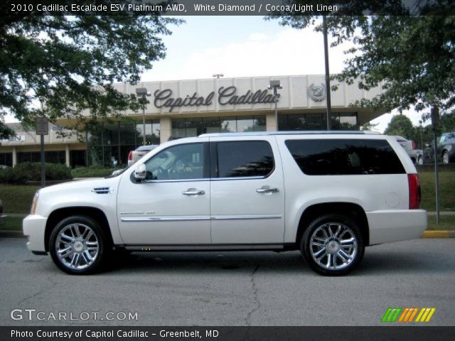 white diamond 2010 cadillac escalade esv platinum awd. Black Bedroom Furniture Sets. Home Design Ideas