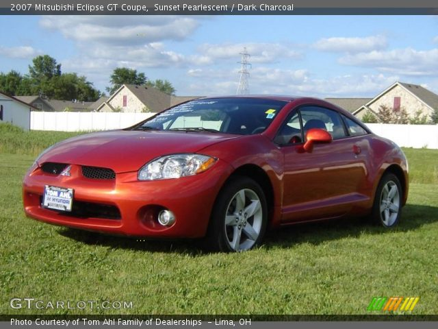 sunset pearlescent 2007 mitsubishi eclipse gt coupe dark charcoal interior. Black Bedroom Furniture Sets. Home Design Ideas
