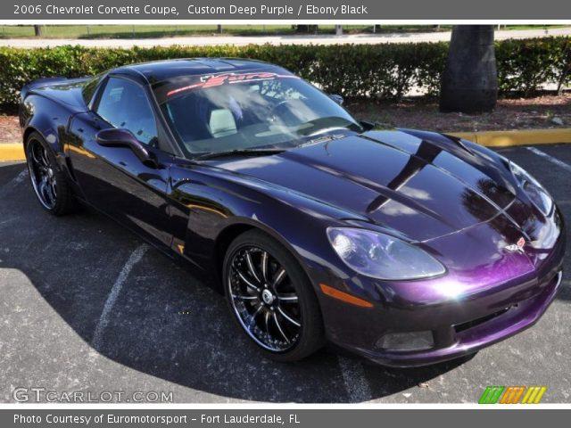 custom deep purple 2006 chevrolet corvette coupe ebony black interior. Black Bedroom Furniture Sets. Home Design Ideas