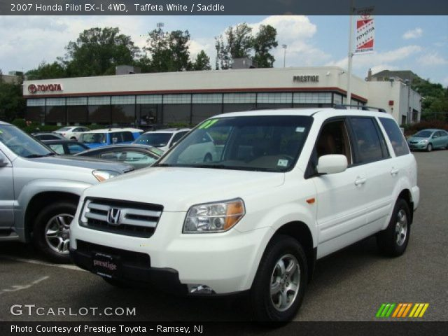 taffeta white 2007 honda pilot ex l 4wd saddle interior vehicle archive. Black Bedroom Furniture Sets. Home Design Ideas