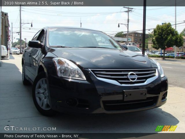 Super Black 2010 Nissan Altima 2 5 S Blond Interior Vehicle Archive 31901008