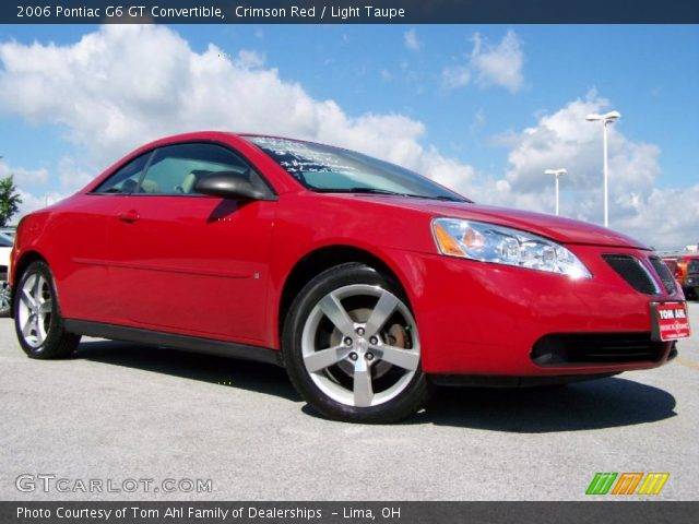 crimson red 2006 pontiac g6 gt convertible light taupe. Black Bedroom Furniture Sets. Home Design Ideas