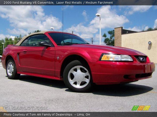 laser red metallic 2000 ford mustang v6 convertible. Black Bedroom Furniture Sets. Home Design Ideas