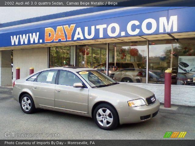 canvas beige metallic 2002 audi a6 3 0 quattro sedan beige interior vehicle. Black Bedroom Furniture Sets. Home Design Ideas