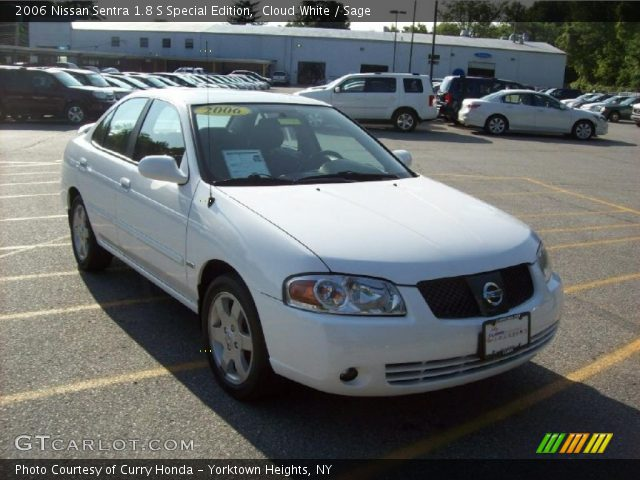 cloud white 2006 nissan sentra 1 8 s special edition sage interior vehicle. Black Bedroom Furniture Sets. Home Design Ideas