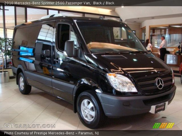 Black 2010 mercedes benz sprinter 2500 passenger van for 2010 mercedes benz 2500