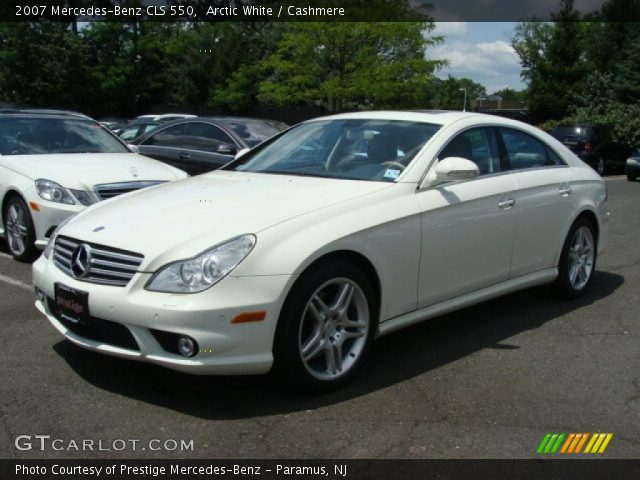 Arctic white 2007 mercedes benz cls 550 cashmere for 2007 mercedes benz cl 550