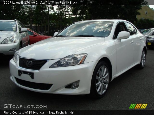 starfire white pearl 2007 lexus is 250 awd black interior vehicle archive. Black Bedroom Furniture Sets. Home Design Ideas