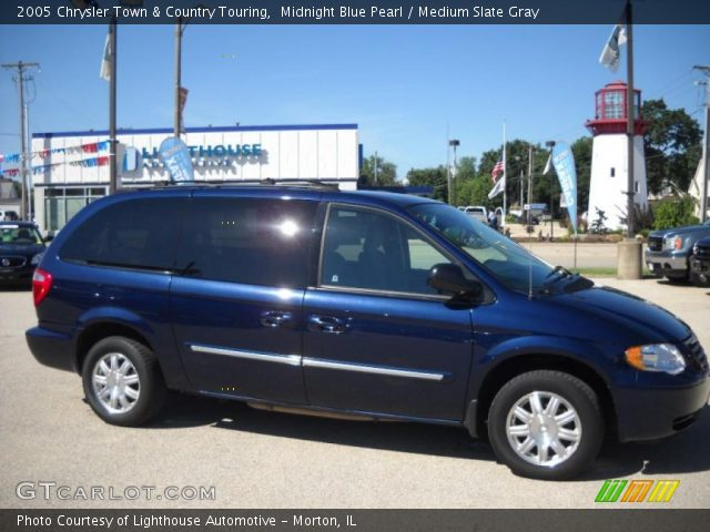 midnight blue pearl 2005 chrysler town country touring medium slate gray interior. Black Bedroom Furniture Sets. Home Design Ideas