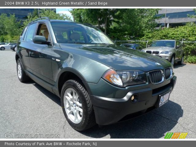 highland green metallic 2004 bmw x3 sand beige. Black Bedroom Furniture Sets. Home Design Ideas