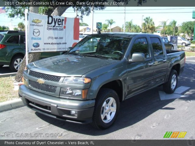 dark gray metallic 2010 chevrolet colorado lt crew cab. Black Bedroom Furniture Sets. Home Design Ideas