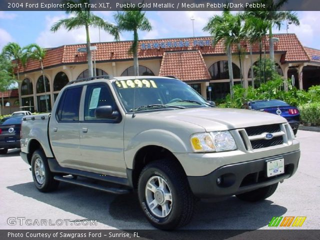 pueblo gold metallic 2004 ford explorer sport trac xlt medium pebble dark pebble interior. Black Bedroom Furniture Sets. Home Design Ideas