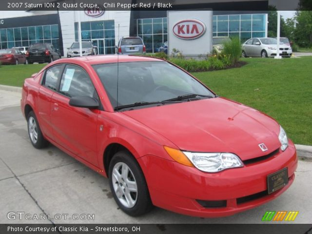 chili pepper red 2007 saturn ion 2 quad coupe black. Black Bedroom Furniture Sets. Home Design Ideas