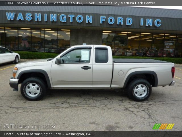 2004 Chevrolet Colorado LS Extended Cab 4x4 in Silver Birch Metallic