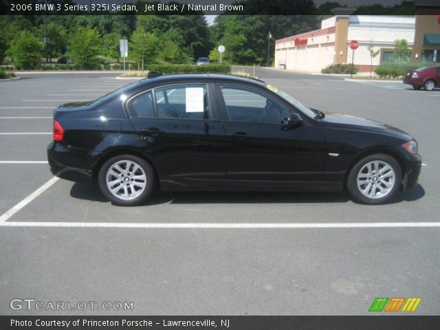 jet black 2006 bmw 3 series 325i sedan natural brown. Black Bedroom Furniture Sets. Home Design Ideas