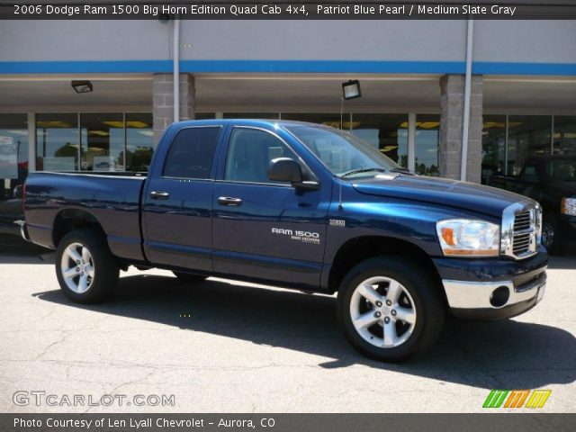patriot blue pearl 2006 dodge ram 1500 big horn edition quad cab 4x4. Black Bedroom Furniture Sets. Home Design Ideas