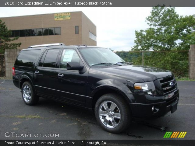 tuxedo black 2010 ford expedition el limited 4x4 stone interior vehicle. Black Bedroom Furniture Sets. Home Design Ideas