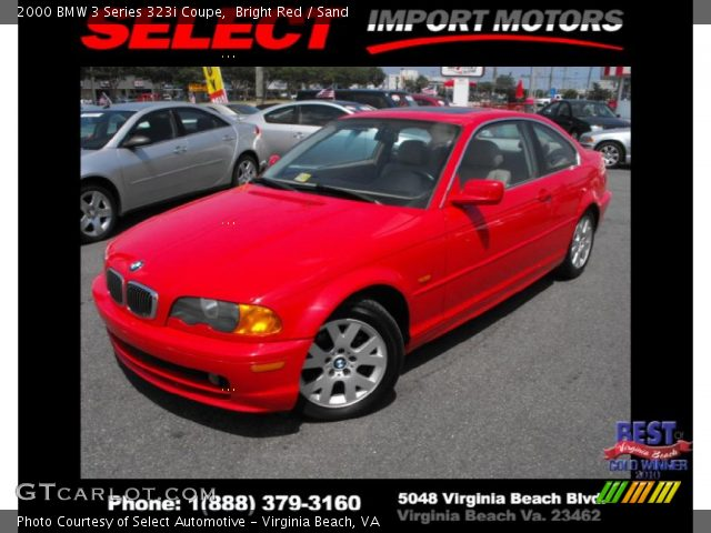 2000 BMW 3 Series 323i Coupe in Bright Red