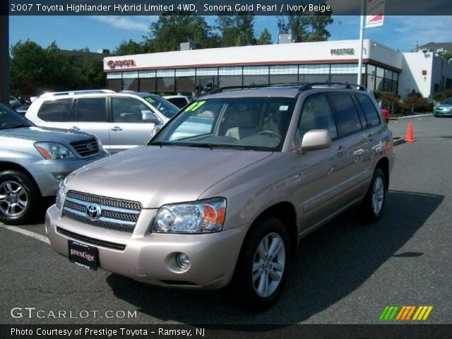 sonora gold pearl 2007 toyota highlander hybrid limited 4wd ivory beige interior gtcarlot. Black Bedroom Furniture Sets. Home Design Ideas