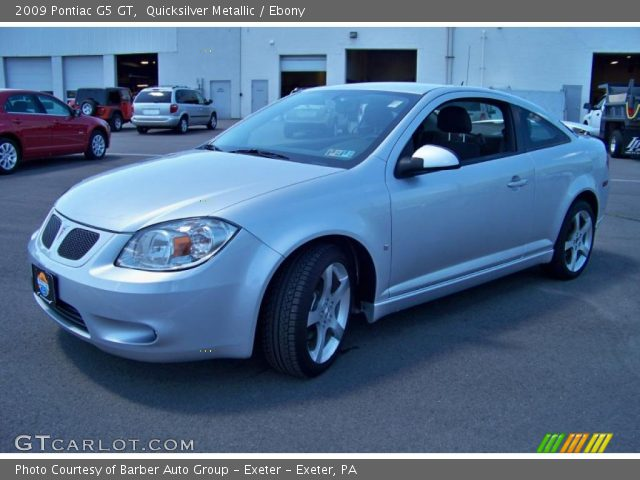 09 Pontiac G5 Gt. Quicksilver Metallic 2009 Pontiac G5 GT with Ebony interior 2009 Pontiac G5 GT in Quicksilver Metallic
