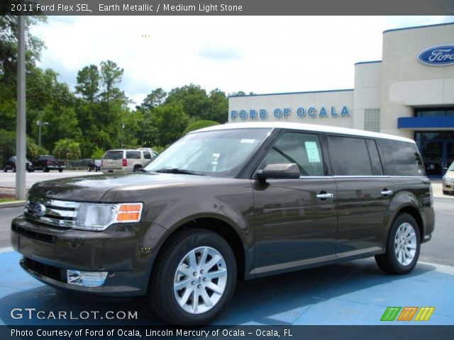 earth metallic 2011 ford flex sel medium light stone. Black Bedroom Furniture Sets. Home Design Ideas
