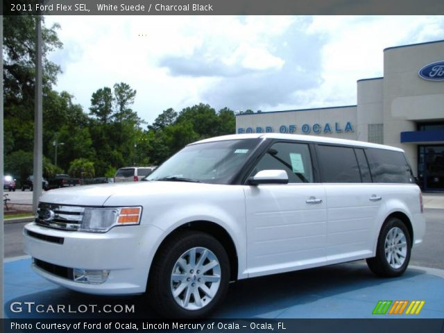 white suede 2011 ford flex sel charcoal black interior. Black Bedroom Furniture Sets. Home Design Ideas