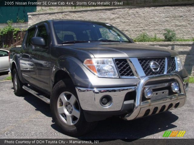 storm gray metallic 2005 nissan frontier se crew cab 4x4. Black Bedroom Furniture Sets. Home Design Ideas