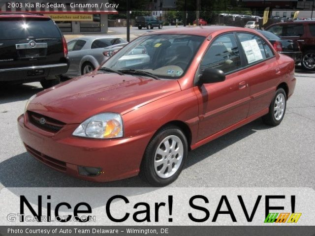 cinnamon 2003 kia rio sedan gray interior gtcarlot. Black Bedroom Furniture Sets. Home Design Ideas