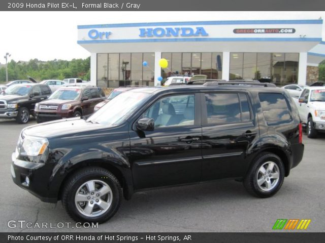 Formal Black 2009 Honda Pilot Ex L Gray Interior Vehicle Archive 32178246