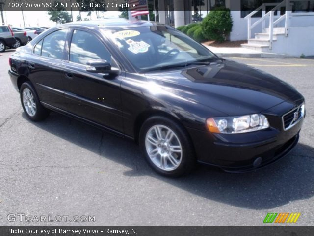 black 2007 volvo s60 2 5t awd graphite interior vehicle archive 32178552. Black Bedroom Furniture Sets. Home Design Ideas