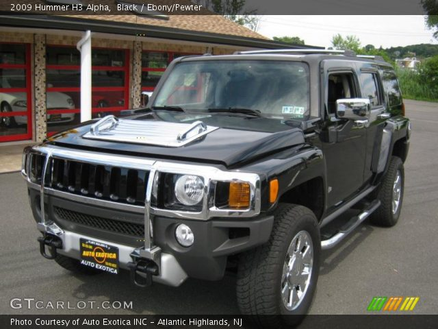 Black 2009 Hummer H3 Alpha with Ebony/Pewter interior 2009 Hummer H3 Alpha