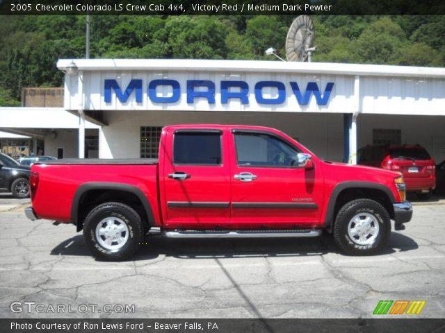 victory red 2005 chevrolet colorado ls crew cab 4x4 medium dark pewter interior gtcarlot. Black Bedroom Furniture Sets. Home Design Ideas