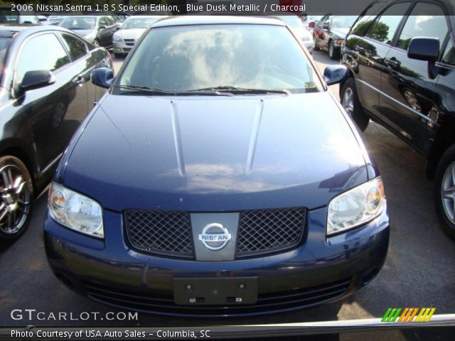 blue dusk metallic 2006 nissan sentra 1 8 s special edition charcoal interior. Black Bedroom Furniture Sets. Home Design Ideas