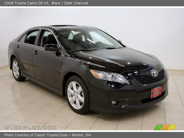black 2008 toyota camry se v6 dark charcoal interior vehicle archive 32269167. Black Bedroom Furniture Sets. Home Design Ideas