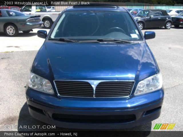 royal blue pearl 2003 mitsubishi lancer ls black interior vehicle archive. Black Bedroom Furniture Sets. Home Design Ideas